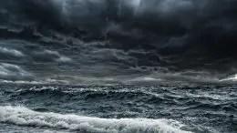 Ocean Storm Representing Deoxygenation