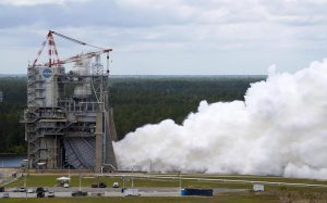 NASA is conducting the second RS-25 engine fire test for the world's most powerful rocket