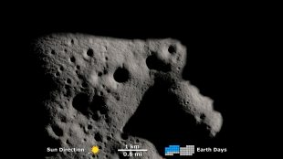 Lunar Explorer Spies Movement of Shadows Near the South Pole of the Moon