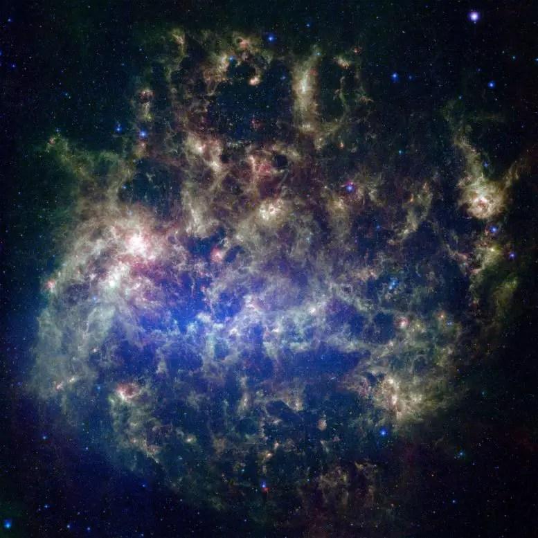 Büyük Macellan Bulutu Spitzer Uzay Teleskopu Görüntüsü