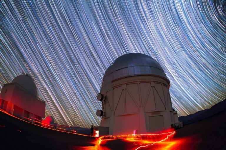 Víctor M. Blanco 4-Meter Telescope Under Stars