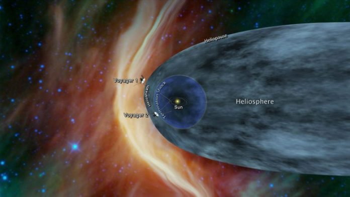 Close to the Voyager 2 galaxy