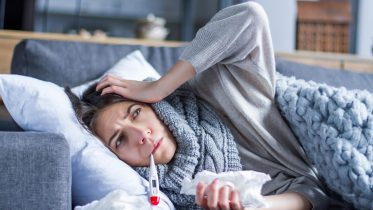 Woman Sick Fever