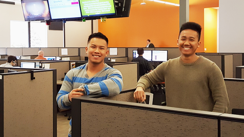 Phong (left) and Liheang (right). Interns to full-time.