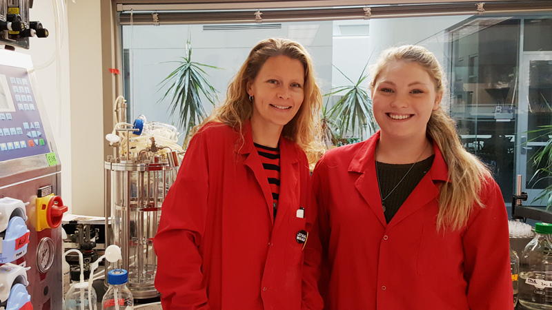Lisa Herron-Olson (left) and Molly Westfield (right) at Syntiron