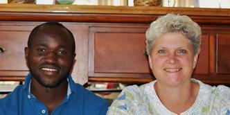 Norbert Abayisenga and Becky Siekmeier