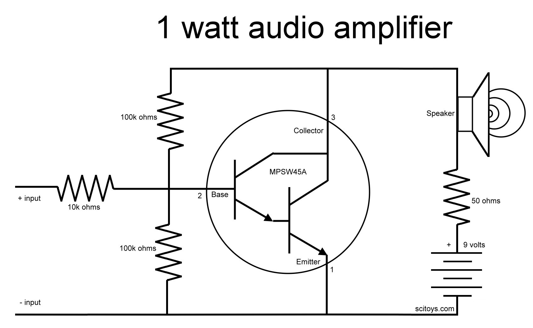 A Simple 1 Watt Audio Amplifier