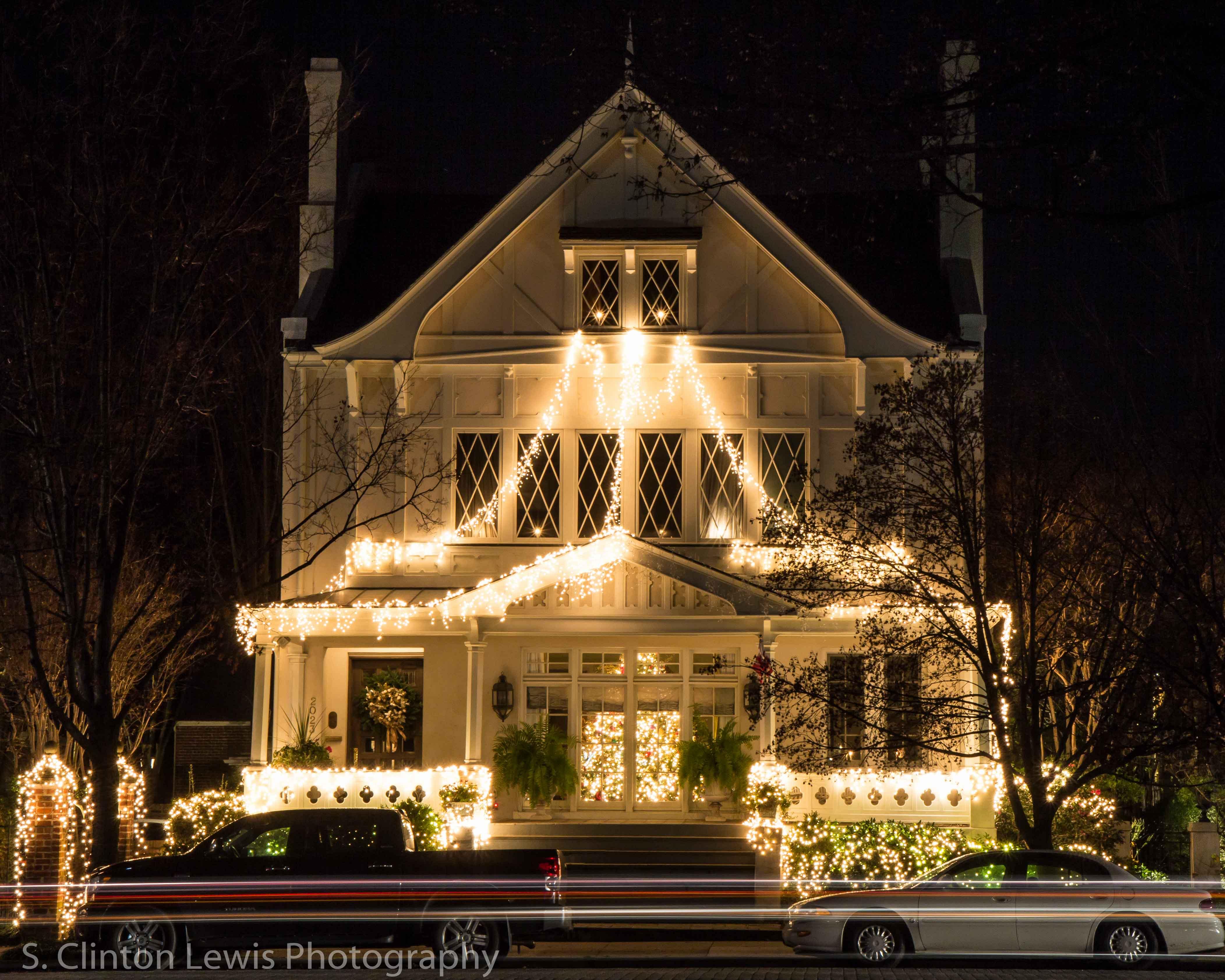 Christmas on Monument Ave  Richmond VA  S Clinton Lewis