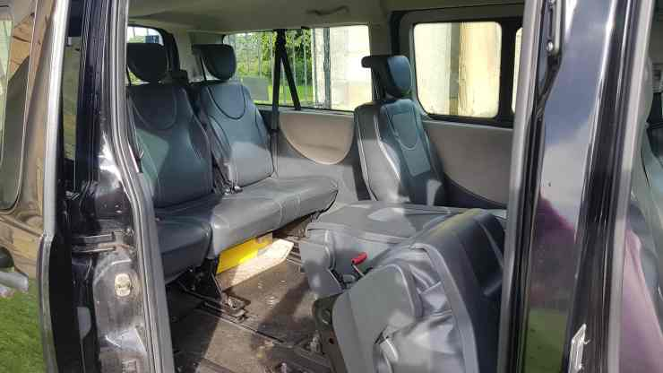 SCL Taxi Thirsk minibus's back seats