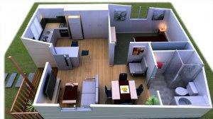 a Granny Flat floorplan
