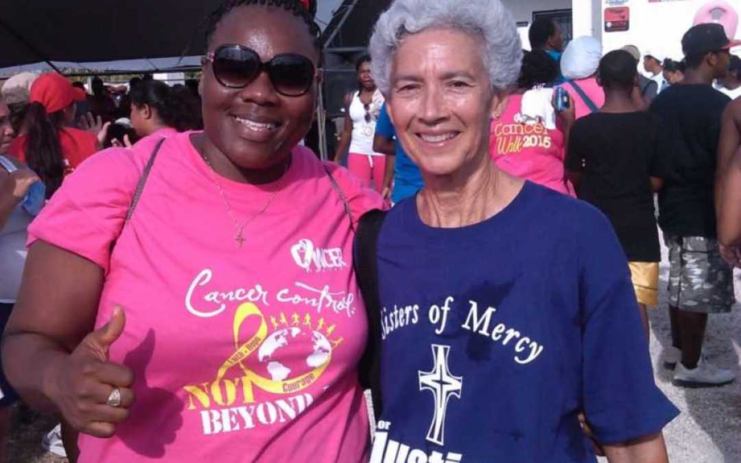 Cancer walk in Belize