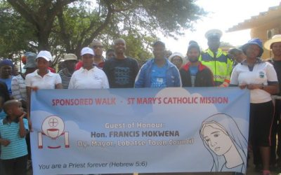 Sponsored walk in Lobatse