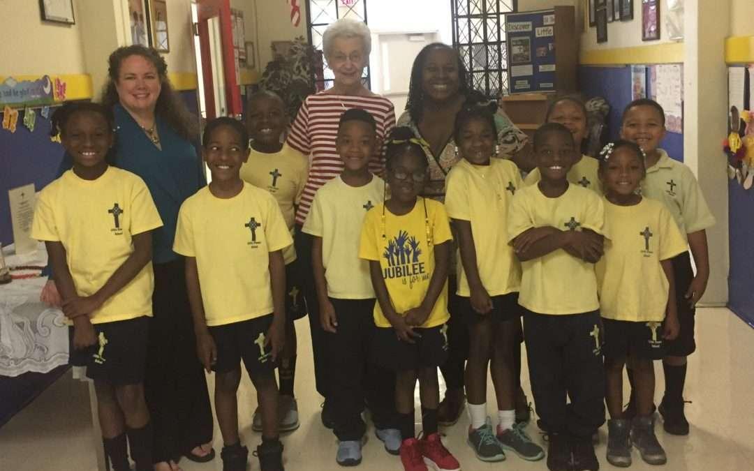 Sister Betty visits Jubilee Schools