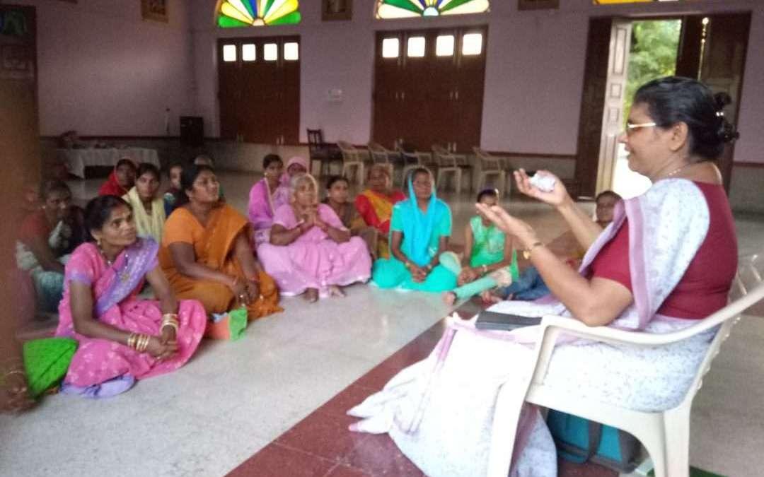 Catholic women of Bakhtiarpur gather for the feast St. Monica