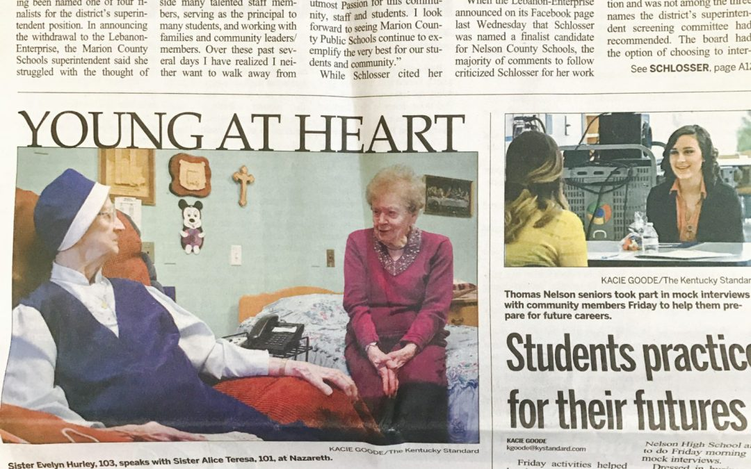 Four Centenarians Highlighted in Newspaper Article