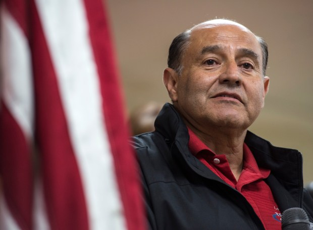 Former state Sen. Lou Correa, running in the 46th Congressional District, addresses his supporters at election night campaign headquarters in Santa Ana on Tuesday, November 08, 2016. (Photo by Ed Crisostomo, Orange County Register/SCNG)