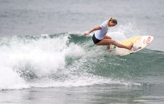 Bethany Hamilton of Hawaii competes in Swatch Women's Pro at Lower Trestles in San Clemente on Sep. 7, 2016. (Photo by Kyusung Gong, Orange County Register/SCNG)
