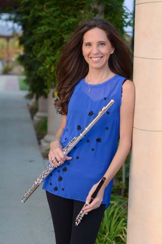 Kate Prestia-Schaub, the Temecula Valley Symphony's principal flutist (Courtesy photo)