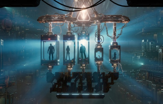 "An artist rendering of a scene from a video seen by visitors to Guardians of the Galaxy - Mission: BREAKOUT! The new attraction is in the building that once housed the Tower of Terror. Based on the ""Guardians of the Galaxy"" movie, visitors (riders) will be asked by the character of Rocket to help free his fellow Guardians of the Galaxy, who have been captured by ""The Collector."" This all-new experience opens on May 27, 2017. (Photo courtesy: The Disneyland Resort)"