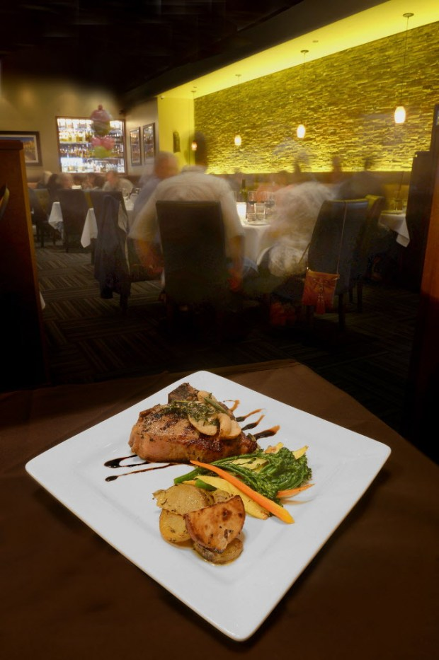 One of the specialties at Piccolino is the veal porterhouse. ///ADDITIONAL INFORMATION: Food.Review.Piccolino.0324 - 3/3/16 - BILL ALKOFER, STAFF PHOTOGRAPHER - Food review of Piccolino restaurant in Mission Viejo.