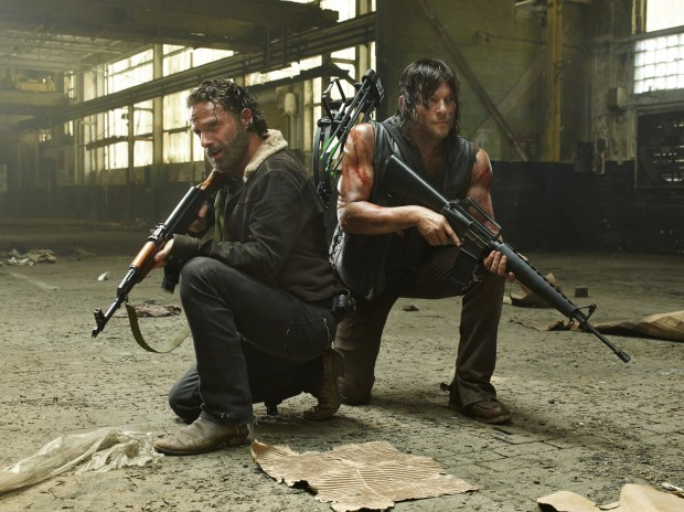 """AMC's """"The Walking Dead,"""" starring Andrew Lincoln, left, and Norman Reedus (Photo by Frank Ockenfels 3, AMC)"""
