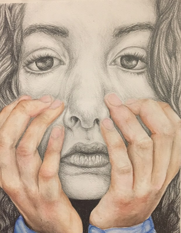Students in middle and high schools throughout Tustin entered artwork in the annual Tustin Area Council for Fine Arts Invitational. Shira Silver, an 10th grader at Beckman High School, earned a first place for her water color and graphite painting, which is untitled.