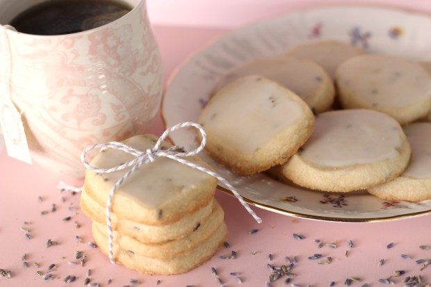 Lavender and honey shortbread cookies with lemon glaze by Stephanie Nguyen. (Photo by Stephanie Nguyen, contributing photographer)