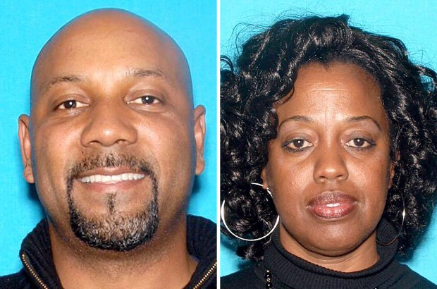 "Cedric Anderson, 53, of Riverside, left, was identified by the San Bernardino Police Department as the gunman in the North Park Elementary school shooting Monday, April 10, 2017, while teacher Karen Smith, 53, was identified as his ""estranged wife"" and intended victim. (Photos courtesy of San Bernardino Police Department)"