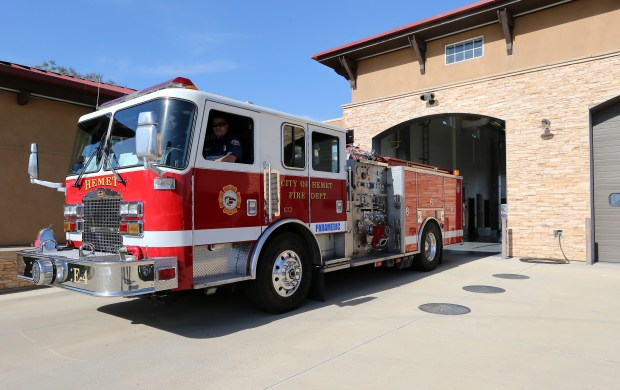 Hemet begins paramedic service at Station #4 with all five Hemet Fire stations with fire engines and paramedics units at Fire Station #4 in Hemet Wednesday, May 3, 2017. FRANK BELLINO, THE PRESS-ENTERPRISE/SCNG