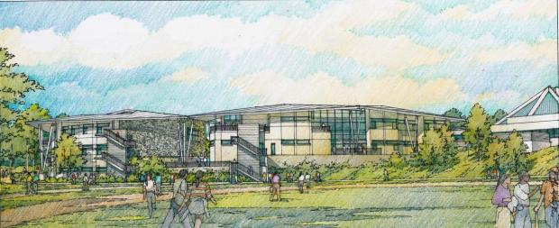 Concordia University Irvine plans to make a $200 million renovations to its campus, including a new Music, Worship & Theology Building shown in the image. (Image courtesy of Concordia University Irvine)