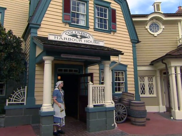 Columbia Harbour House is a quick-service restaurant featuring New England Clam Chowder, salads, lobster rolls, fish and other items. It is located in the Liberty Square area of Walt Disney World's Magic Kingdom. (Photo by Courtesy, Walt Disney World Resort)