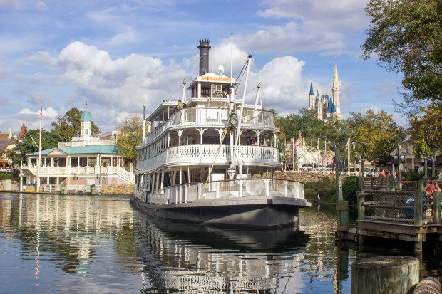 The steam-powered Liberty Belle riverboat takes riders on a 17-minute journey on the Rivers of America. Though most of the river is in Frontierland, the dock is in Liberty Square at Walt Disney World's Magic Kingdom. The journey travels around Tom Sawyer Island for a trip into a Disney version of America's river frontier. (Photo by Mark Eades, Orange County Register/SCNG)