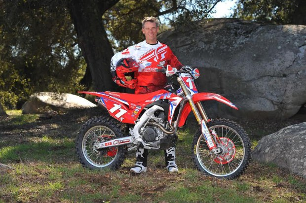 Johnny Campbell, off-road motorcycle champion and owner/manager of the JCR/Honda team.(Courtesy of JCR/Honda)