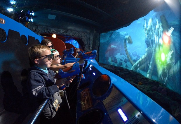 Voyage to the Iron Reef is a 3D ride at Knott's Berry Farm where riders wearing 3D glasses travel from screen to screen shooting villains. (File photo by Jeff Gritchen, Orange County Register/SCNG)