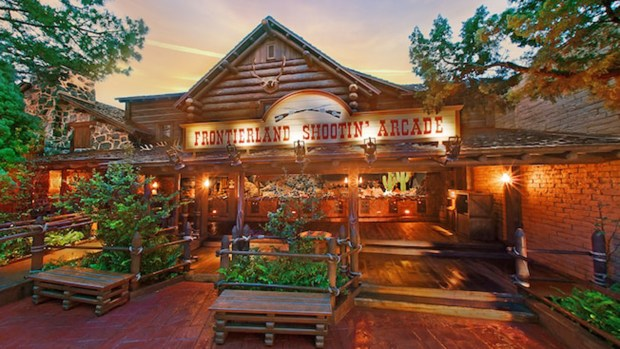 Visitors to Frontierland in the Magic Kingdom of Walt Disney World can try out their aim with electronic rifles at the Frontierland Shootin' Arcade. (Photo courtesy: Walt Disney World Resort)