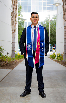 CSUF alum Christian Murillo, now a marketing analyst for Honda Motor Co., attributes part of his success to the opportunities he received as an Abrego Scholar. (Photo courtesy of Cal State Fullerton)