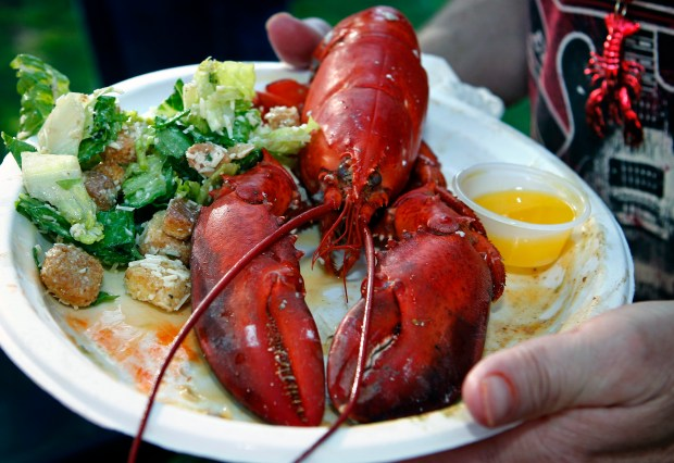 The annual Tustin Lobsterfest, featuring all-you-can-eat surf and turf, takes place in Peppertree Park Saturday, May 20.///ADDITIONAL INFORMATION: -tu.0526.lobsterfest.KT.- KAREN TAPIA, CONTRIBUTING PHOTOGRAPHER