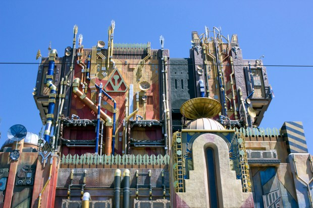 """""""Guardians of the Galaxy: Mission Breakout!"""" opened to the public Saturday, May 27, 2017 at Disney California Adventure sparking long lines and good reactions to the new ride. (Photo by Mark Eades, Orange County Register/SCNG)"""