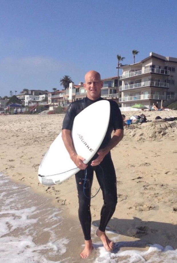 Paul Burke, well-known in the surfing community for his surfboad designs, died after he was struck by a car while bicyling near his home in Fallbrook.