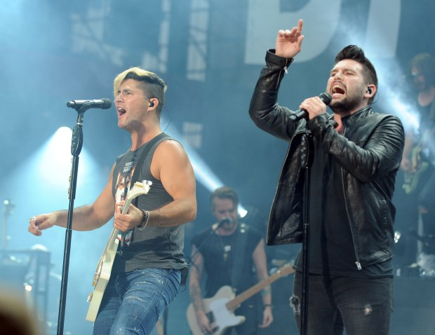Dan Smyers and Shay Mooney of Dan + Shay. (File photo by Kelly A. Swift)