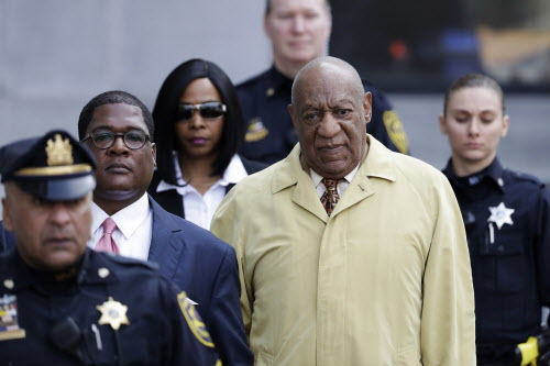 FILE – In this Feb. 27, 2017, file photo, Bill Cosby departs after a pretrial hearing in his sexual assault case at the Montgomery County Courthouse in Norristown, Pa. A crucial phase of Cosby's sex assault trial starts Monday, May 22, 2017, when lawyers gather in Pittsburgh to pick the jury that will decide if the actor drugged and molested Andrea Constand, a Temple University women's basketball team manager, at his home near Philadelphia in 2004. (AP Photo/Matt Slocum, File) ORG XMIT: PAPX205
