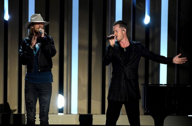 Musicians Brian Kelley (L) and Tyler Hubbard of Florida Georgia Line perform onstage during the 2017 Billboard Music Awards at T-Mobile Arena on May 21, 2017 in Las Vegas, Nevada. (Photo by Ethan Miller/Getty Images)
