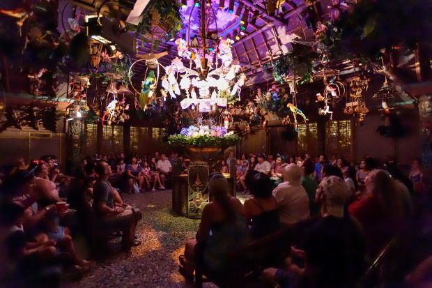 Visitors to The Enchanted Tiki Room in Adventureland get 15 minutes of uninterrupted air-conditioning at Disneyland in Anaheim, California, on Wednesday, June 28, 2017.(Photo by Jeff Gritchen, Orange County Register/SCNG)