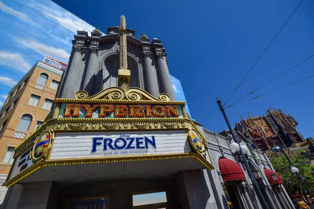 """""""Frozen, Live at the Hyperion"""" is playing in Hollywood Land ay Disney's California Adventure in Anaheim, California, on Wednesday, June 28, 2017.(Photo by Jeff Gritchen, Orange County Register/SCNG)"""