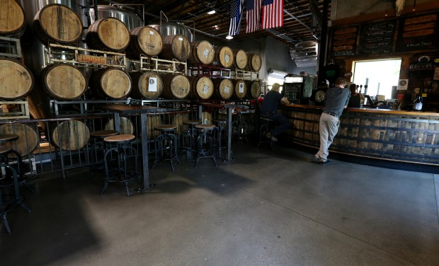 Customers try some of Ironfire Brewing ales and lagers in Temecula on Thursday, June 1, 2017. (Photo by Frank Bellino, The Press-Enterprise/SCNG)
