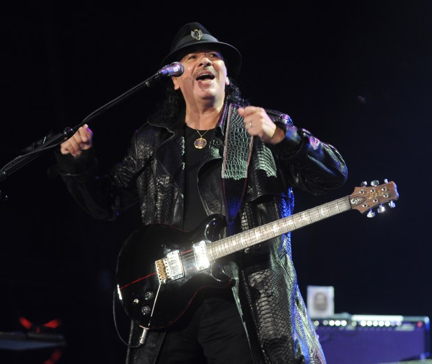 Carlos Santana, shown here in Irvine in 2014, will perform in Anaheim. (File photo by Kelly A. Swift)