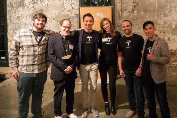 Swaggle team members, from left, Jamie Mauer, Izzy Ezrailson, Eric Niu, Lindsay Mielnicki, Martin Sherene and Mok-Yi ChowPhoto courtesy Swaggle