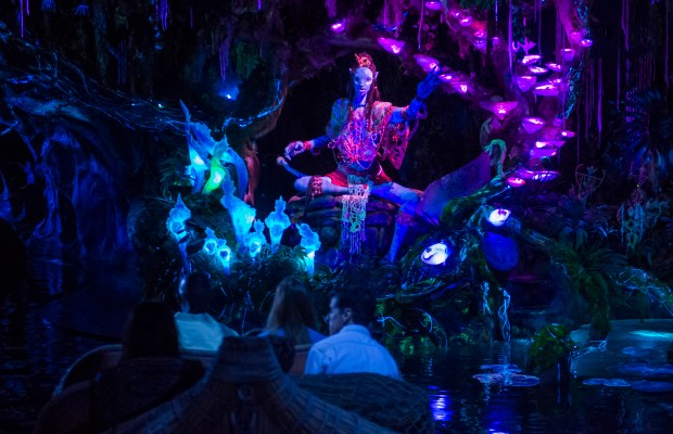 A chance to meet the Shaman of Song is the climax of the Na'vi River Journey attraction in Pandora: The World of Avatar at Disney's Animal Kingdom theme park in Walt Disney World. (Photo courtesy: The Walt Disney World Resort)