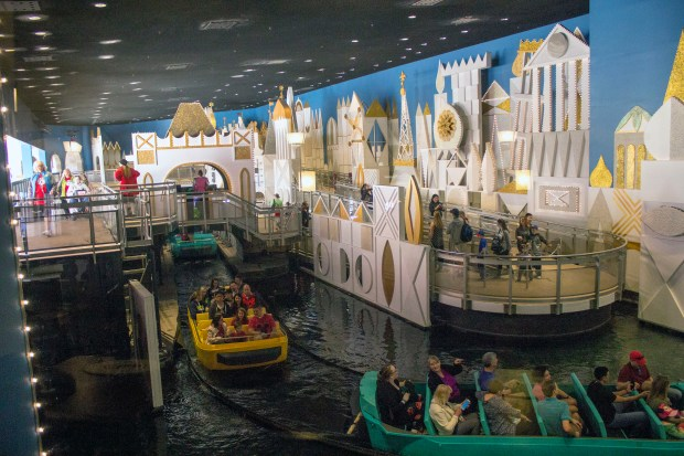 "Thanks to Florida's rainy weather, the queue line, loading area, and facade for the ""it's a small world"" attraction are under cover and partially indoors in Fantasyland at the Magic Kingdom theme park in the Walt Disney World Resort. (Photo by Mark Eades, Orange County Register/SCNG)"