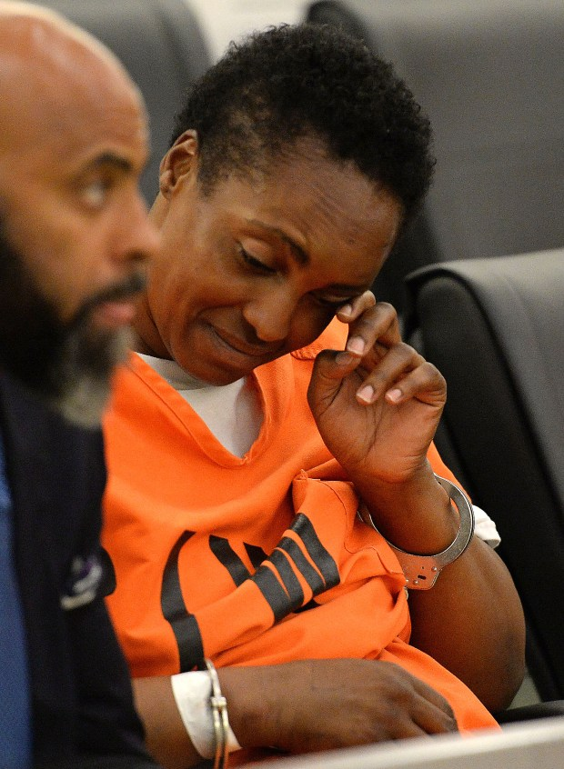 Nicole Darrington-Clark pleaded not guilty to one count of murder and two counts of attempted murder Thursday June 8, 2017 in San Bernardino Superior court. Darrington-Clark is charged with the multiple stabbing murder of her 18-month old granddaughter and with the stabbing of a second granddaughter along with the stabbing of her adult daughter on Monday in Colton. (Photo: Will Lester-SCNG/Inland Valley Daily Bulletin)